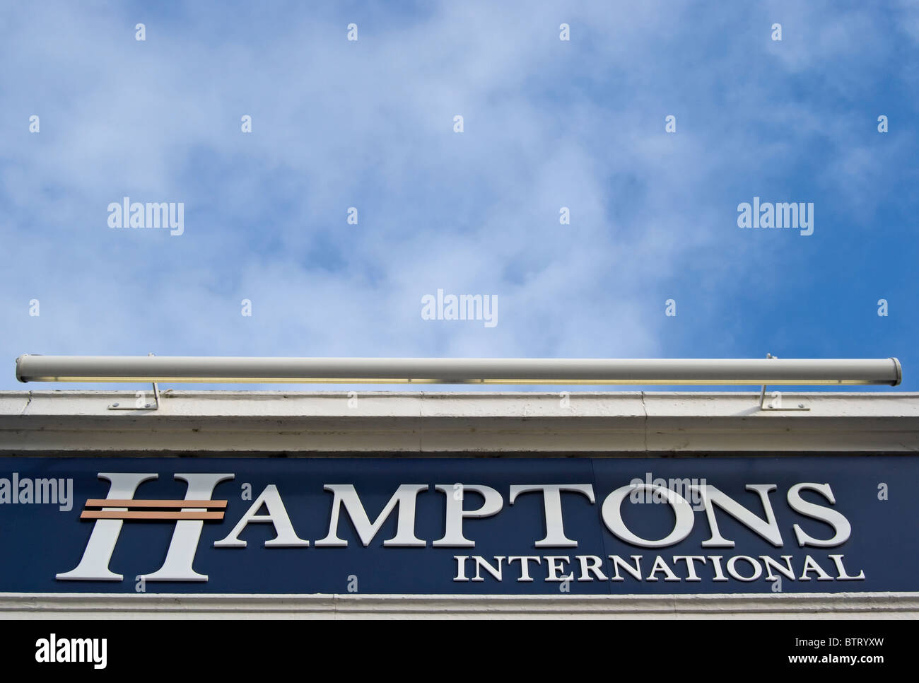 branch of hamptons estate agent in wimbledon, southwest london, england - Stock Image