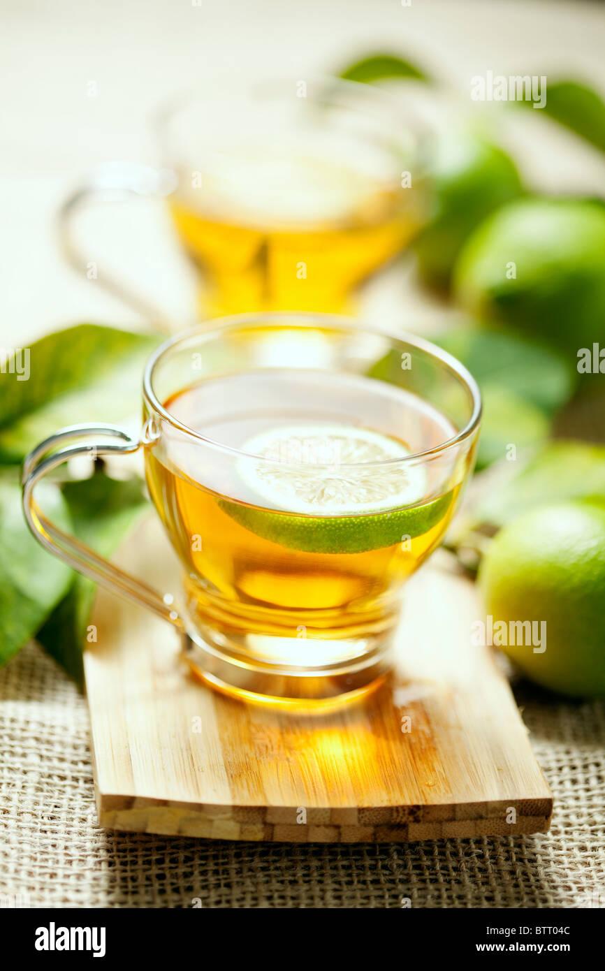 lemon tea - Stock Image