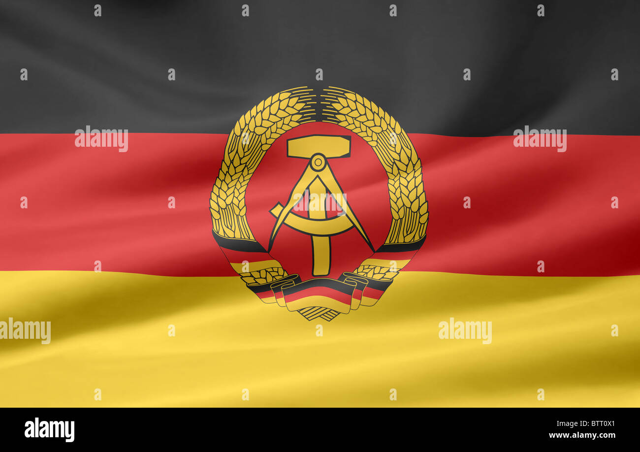 High resolution flag of the German Democratic Republic - Stock Image