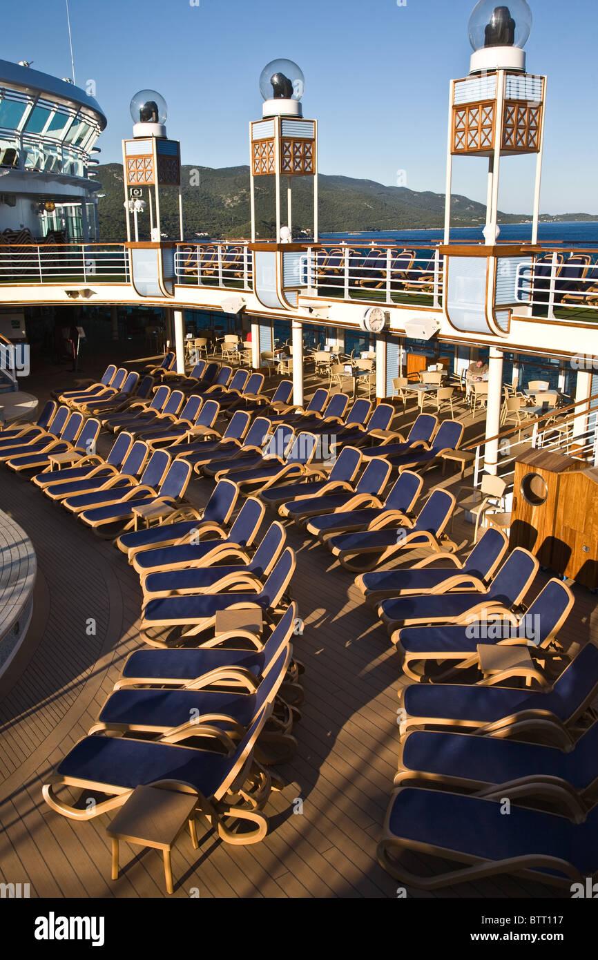 Azura cruise ship deck decks layout graphic detail Stock Photo