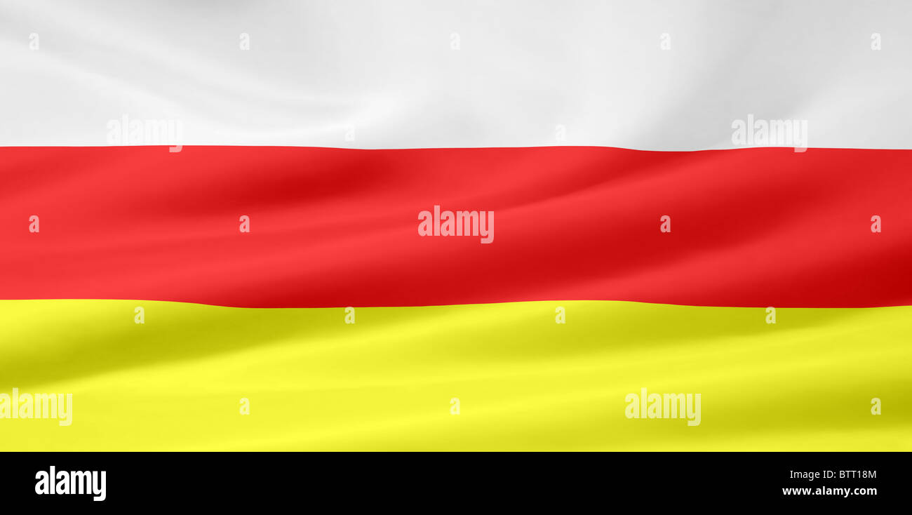 High resolution flag of South Ossetia - Stock Image