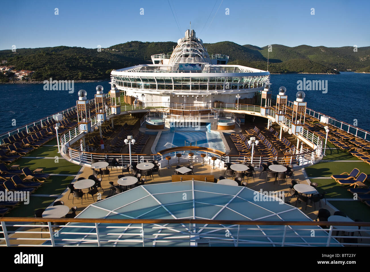 Azura cruise ship deck decks layout graphic detail - Stock Image
