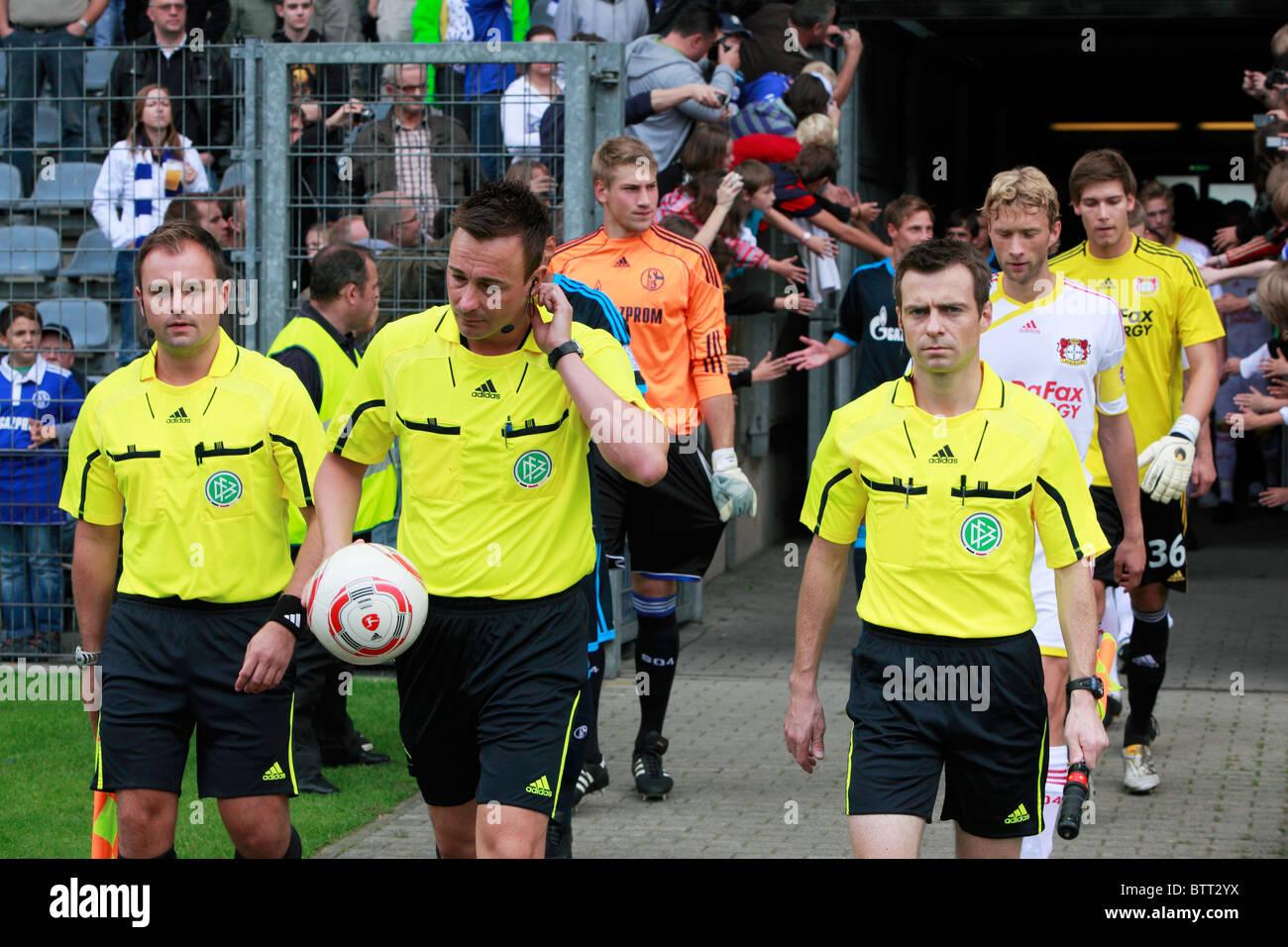 sports, football, Bundesliga, 2010/2011, friendly match 2010, Bayer 04 Leverkusen versus FC Schalke 04 4:0, Stadium - Stock Image