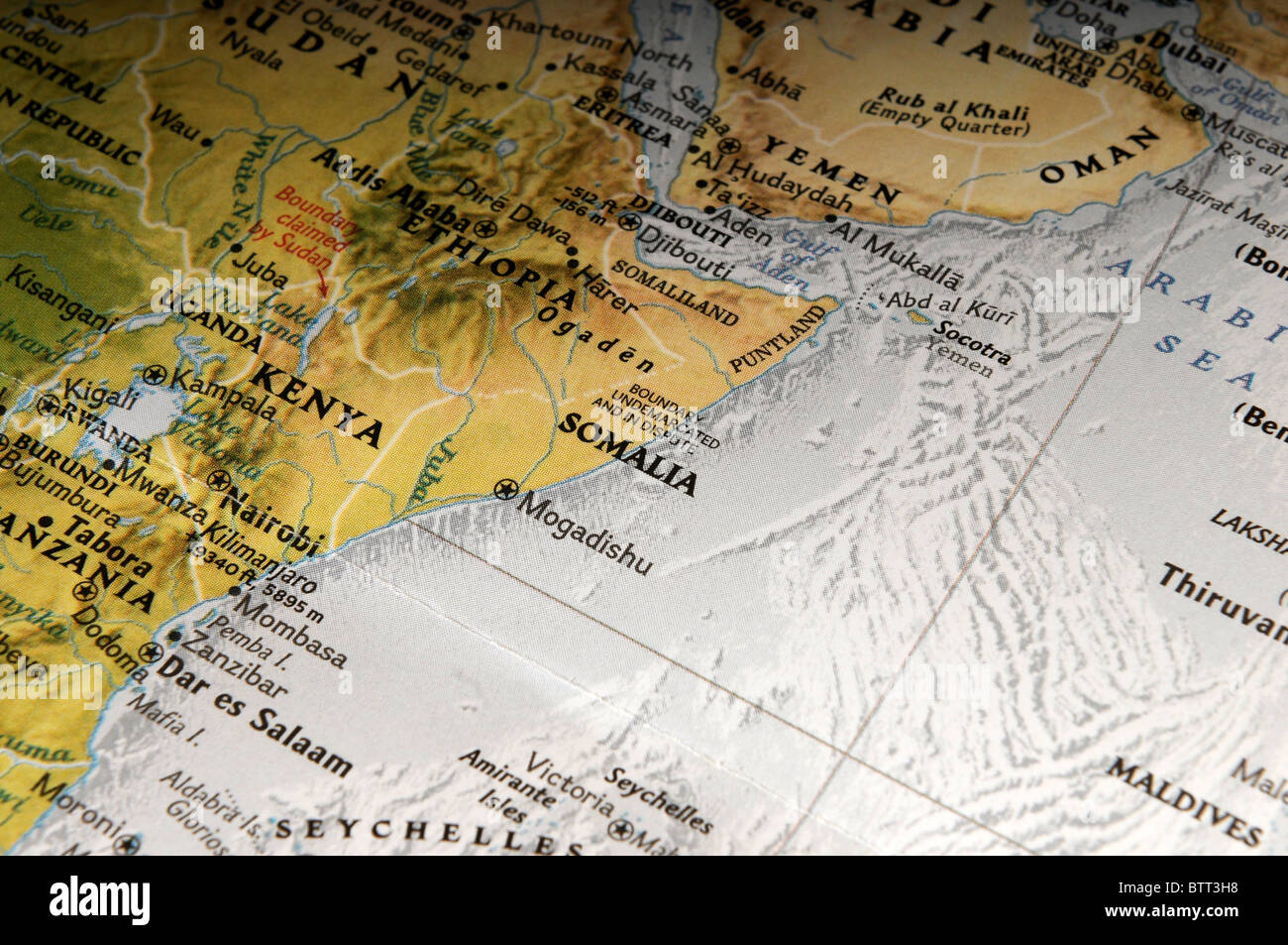 Map of Somalia - Stock Image