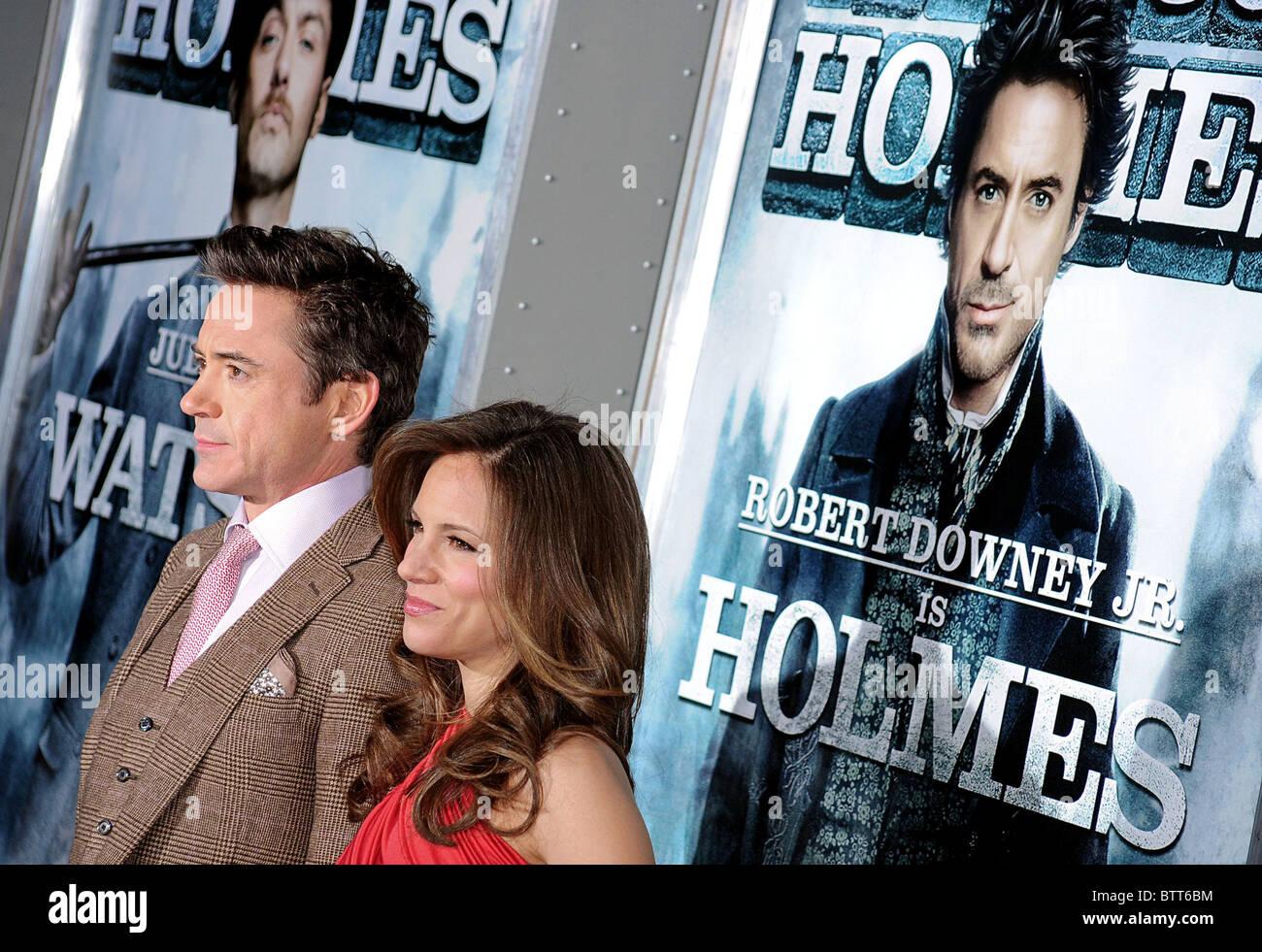 SHERLOCK HOLMES Premiere - Stock Image
