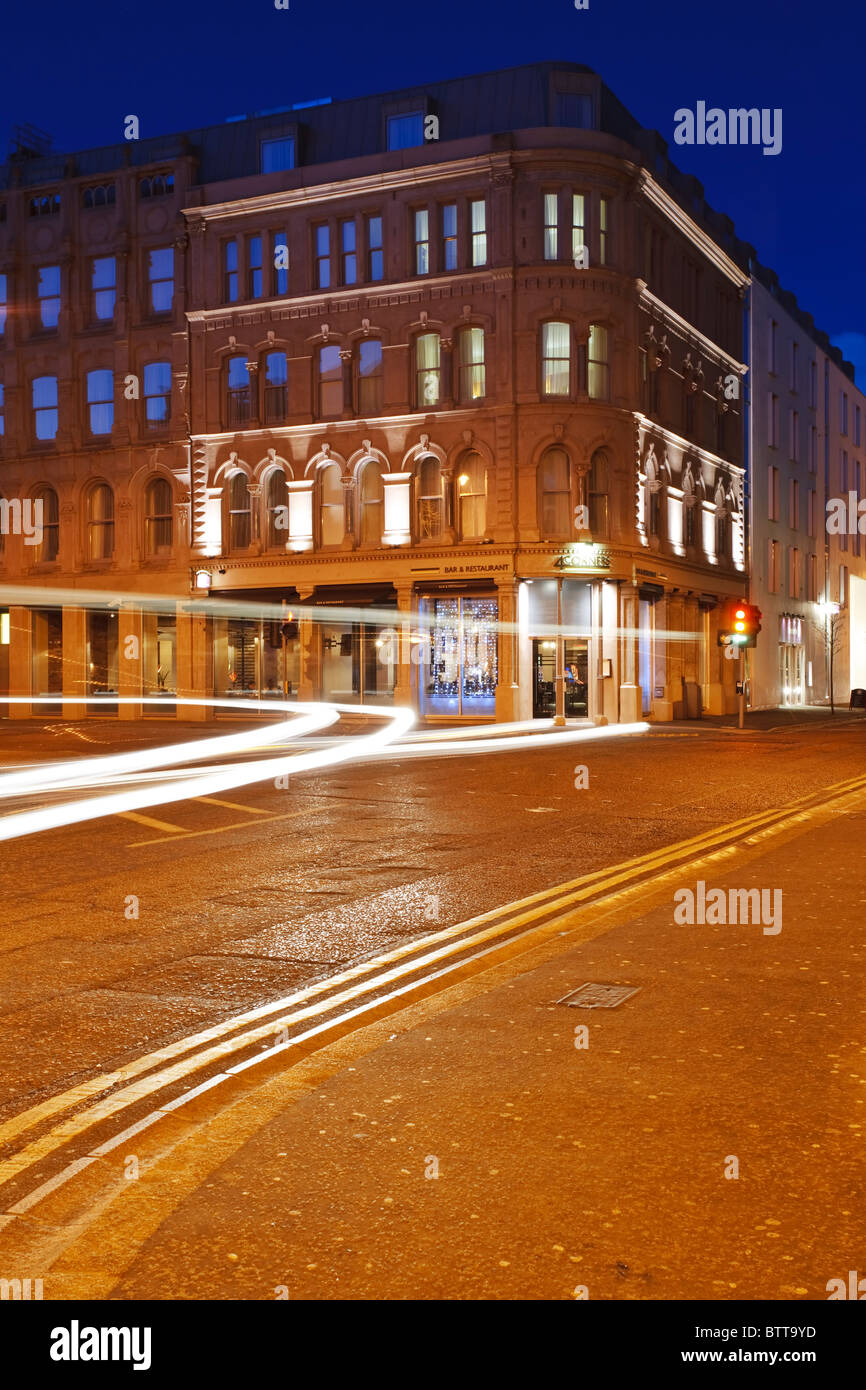 Four Corners in the Cathedral Quarter of Belfast, Northern Ireland - Stock Image