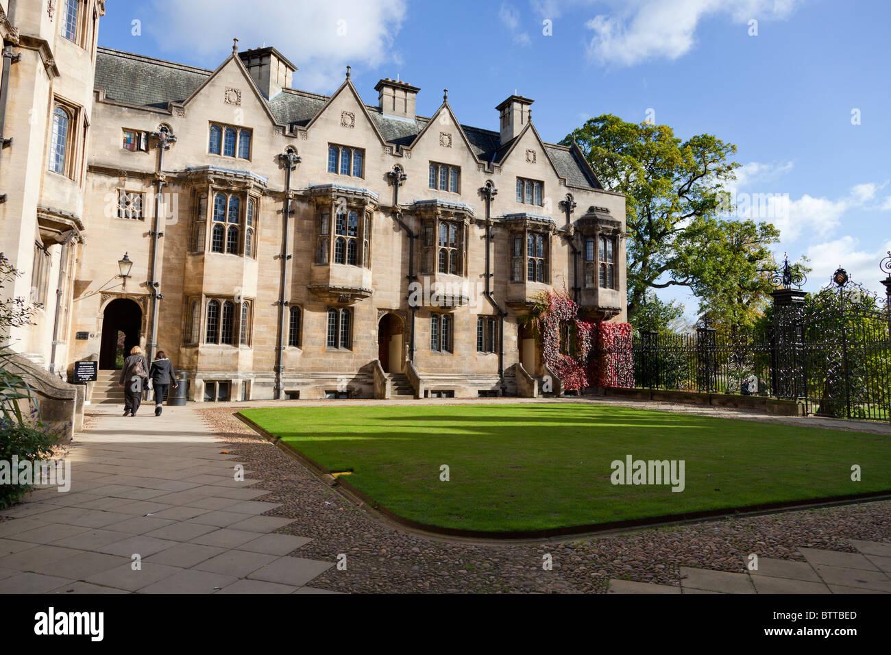Fellows' Quadrangle, Merton College Oxford - Stock Image