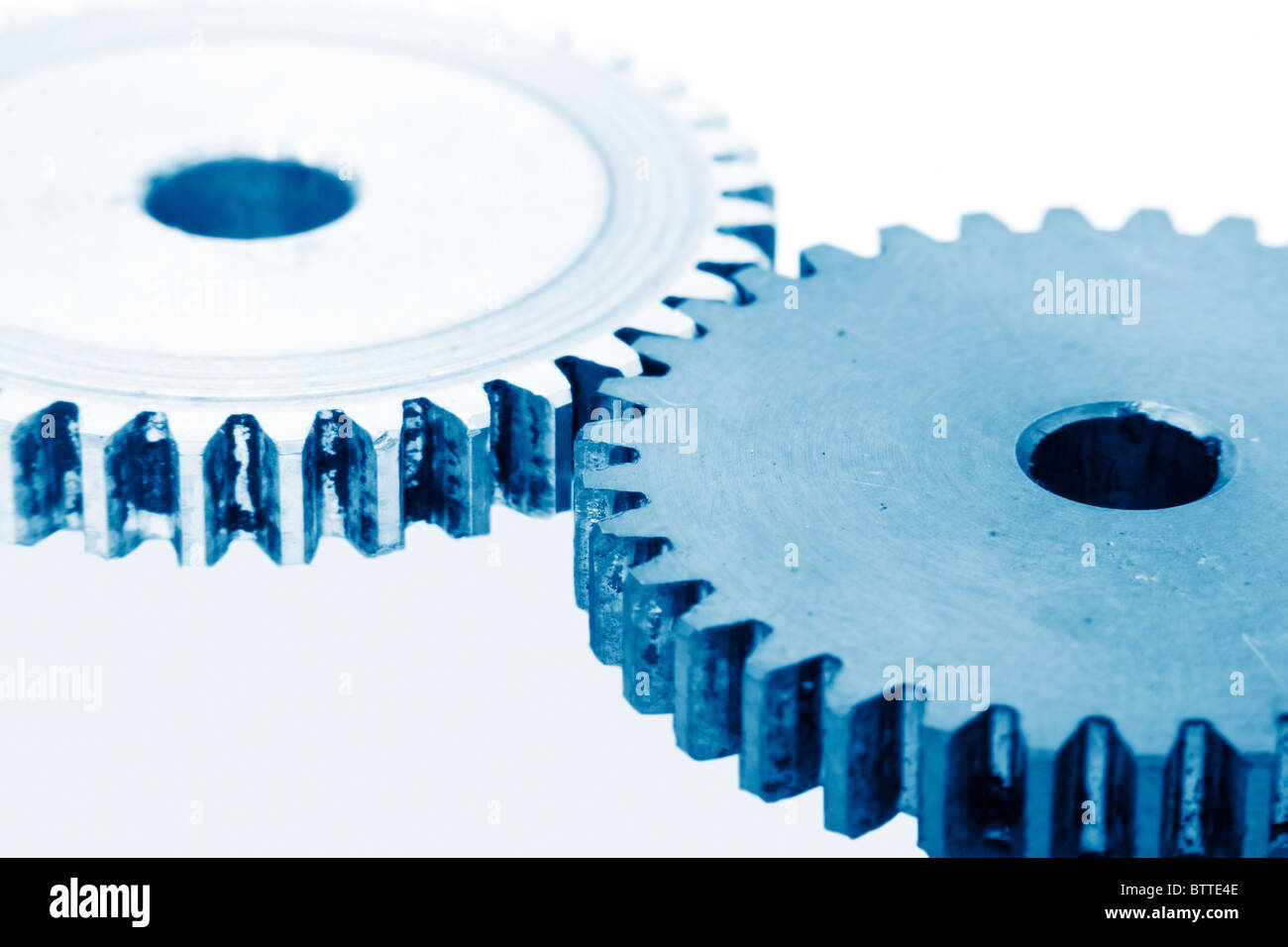 gears as industrial technology concept - Stock Image