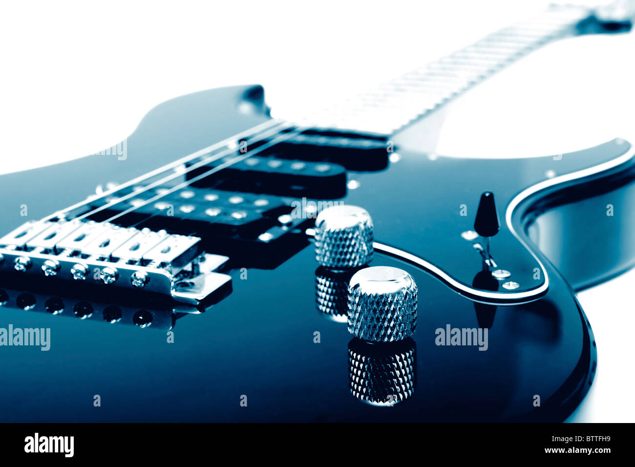 Electric guitar closeup - Stock Image