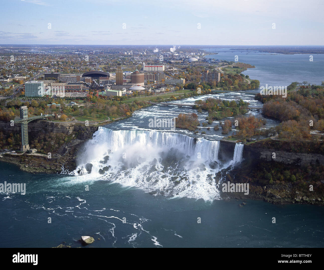 American And Bridal Veil Falls Niagara Falls New York State