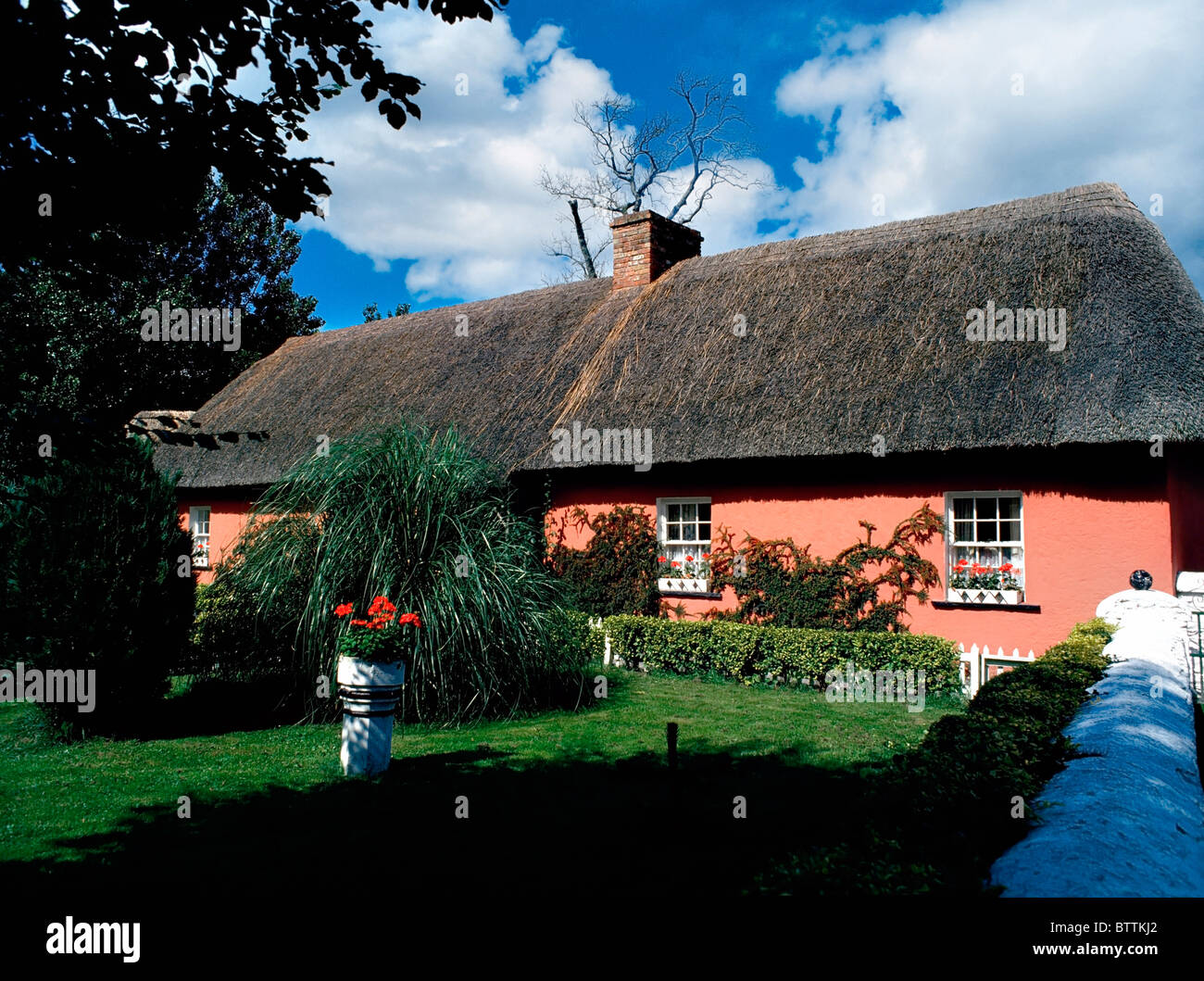 Bunratty Castle And Folk Park, Co Clare, Ireland; Golden Vale (Home Of A Prosperous Farmer)  Recreating 19Th Century - Stock Image