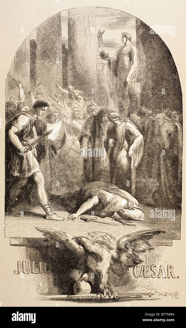 Illustration by Sir John Gilbert for Julius Caesar by William Shakespeare. - Stock Image