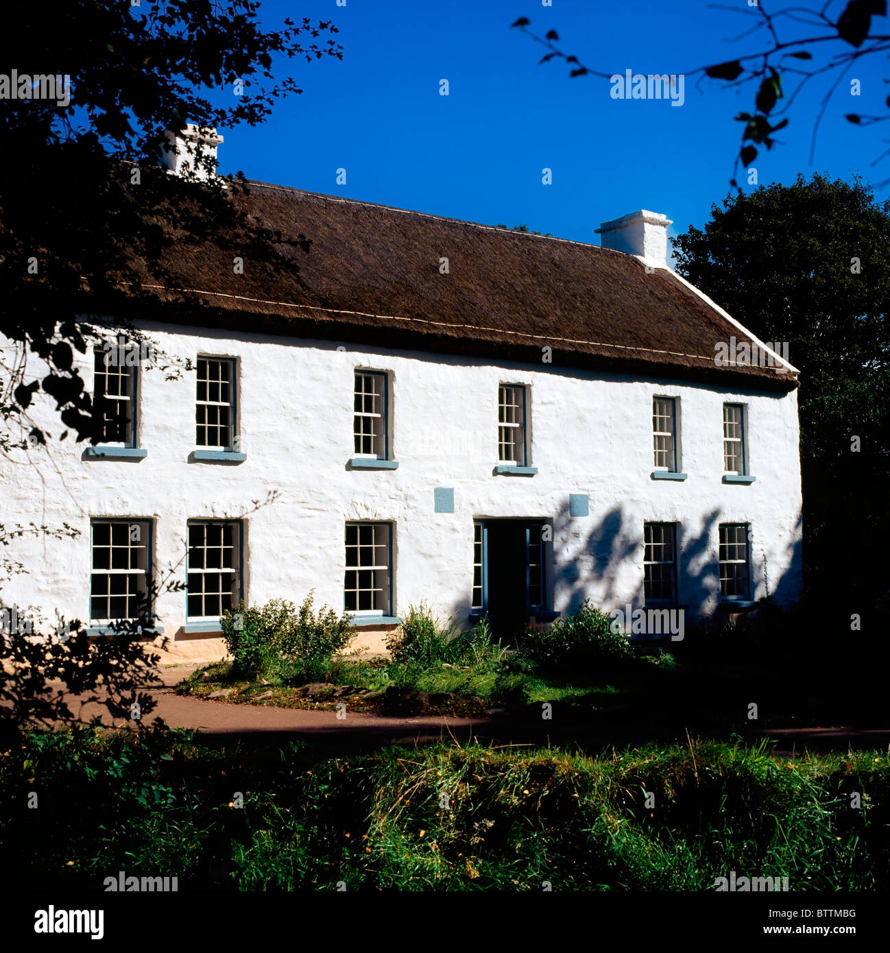 Omagh Campbell House, Ulster American Folk Park, Co Tyrone, Ireland - Stock Image