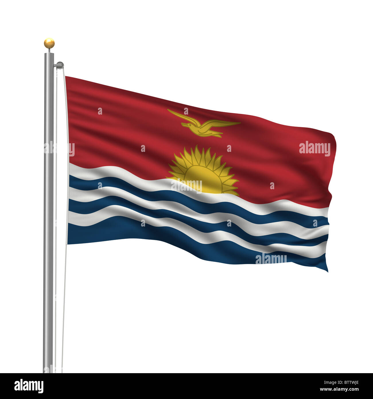 Flag of Kiribati - Stock Image