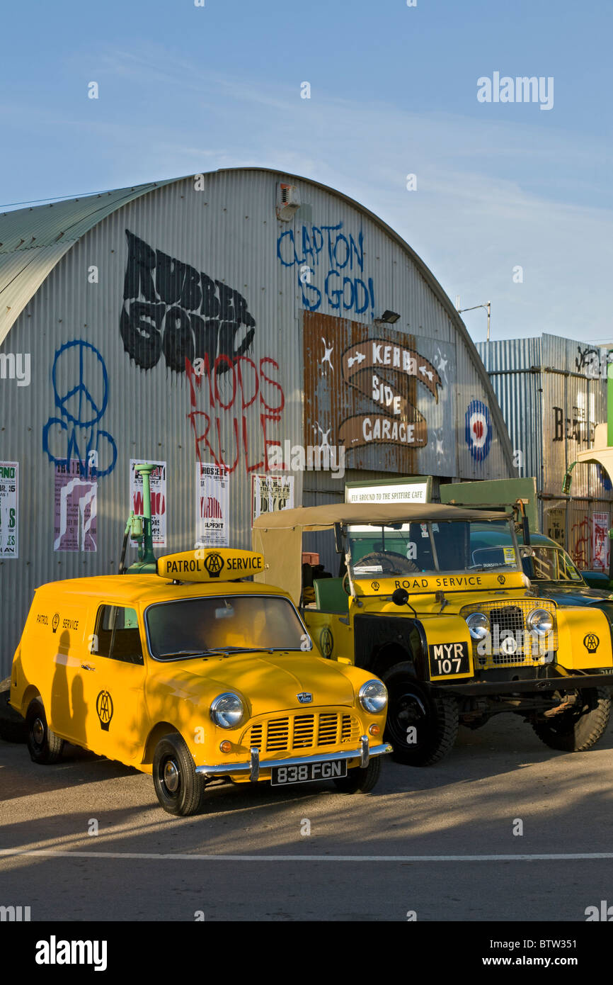 Austin Mini Van And Land Rover In Aa Livery With Simulated Graffiti
