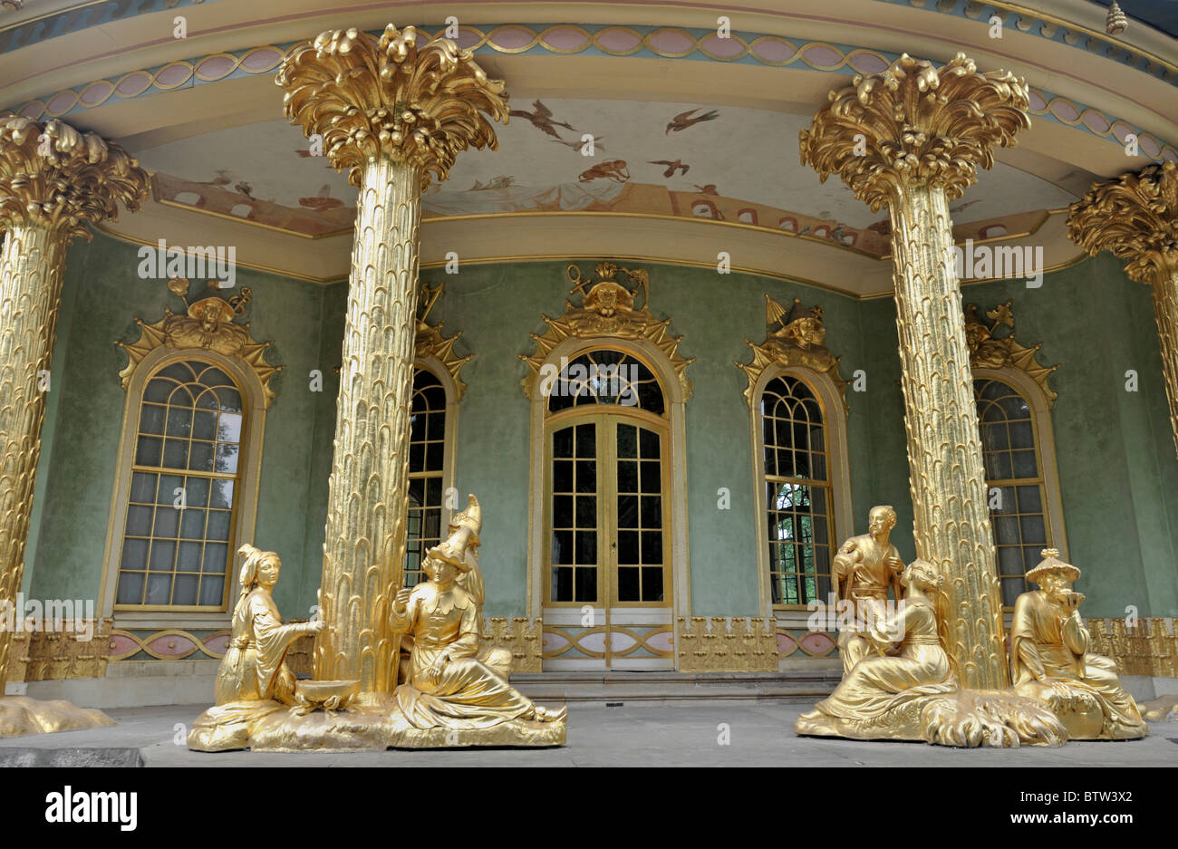 The Chinese tea house in Sanssouci Palace Potsdam, Germany Europe, UNESCO World heritage - Stock Image