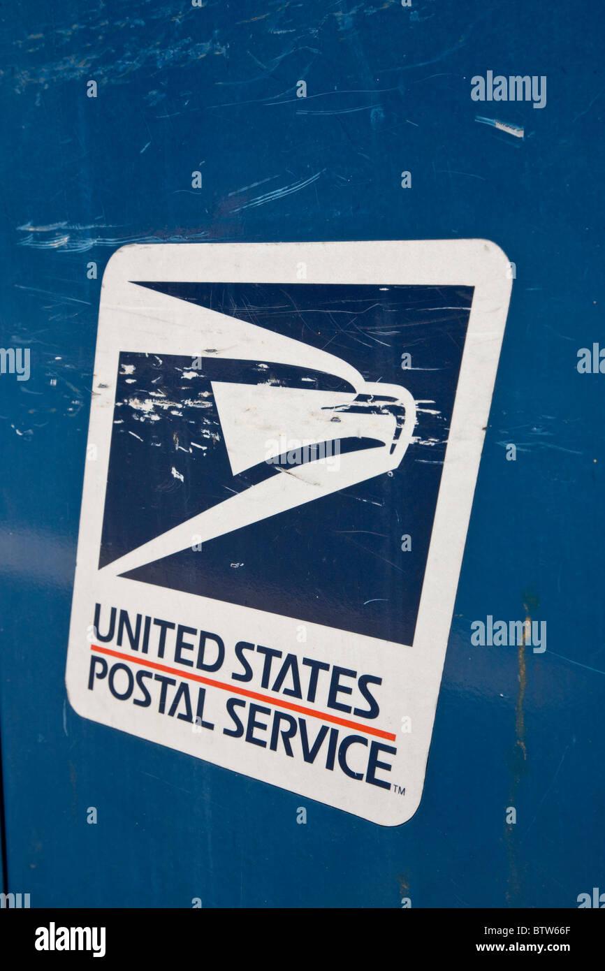 Postal Service sign - Stock Image