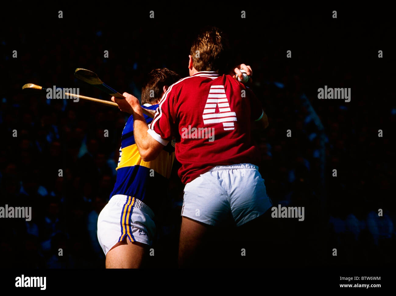 Hurling, Galway Versus Tipperary, Ireland - Stock Image