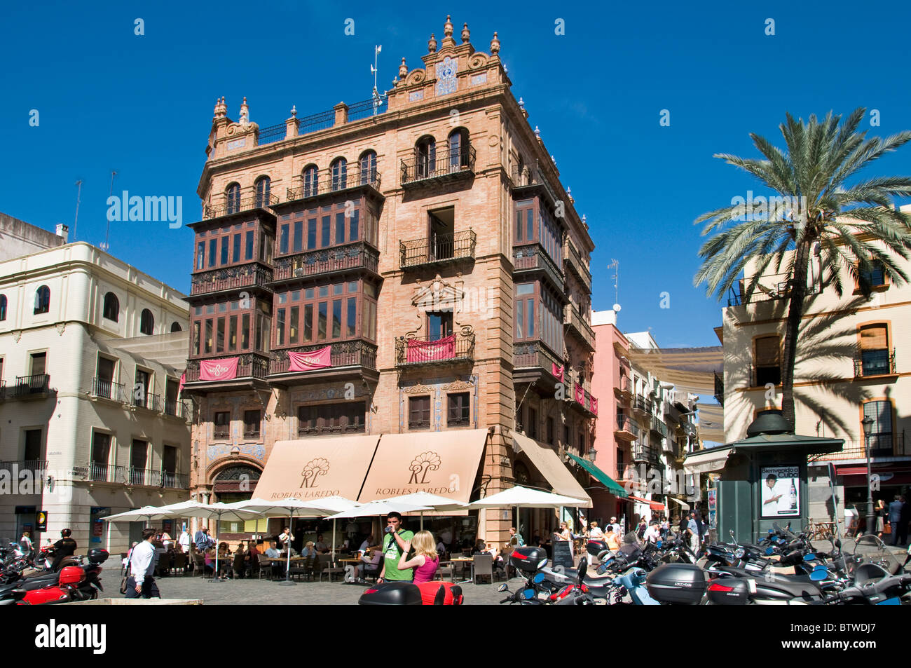 Seville Spain  Dona Maria Coronel old City Center Stock Photo