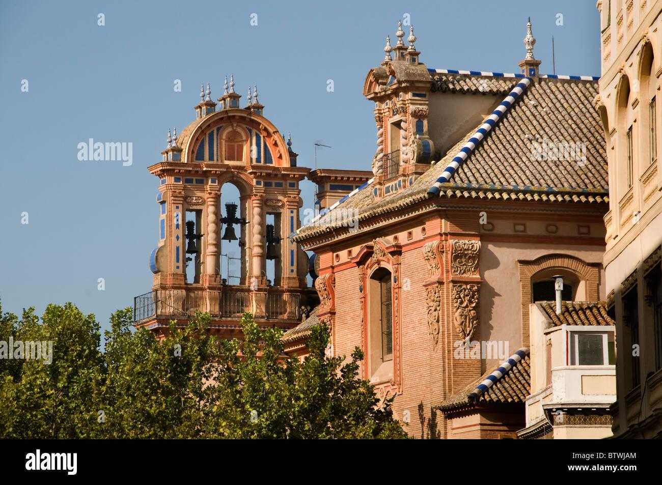 Seville Spain Iglesia de la Magdalena  Church - Stock Image