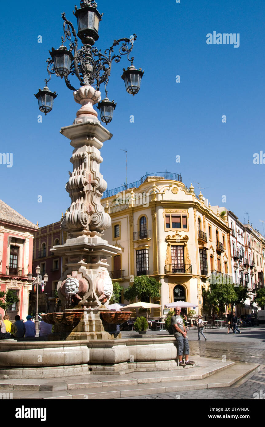 Seville Spain Andalusia Spanish Andalucia Square old Center - Stock Image