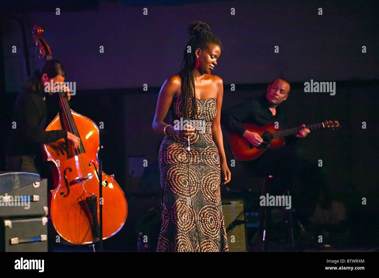 SOMI sings for an entranced crowd in Dizzys Den - 2010 MONTEREY JAZZ FESTIVAL, CALIFORNIA - Stock Image
