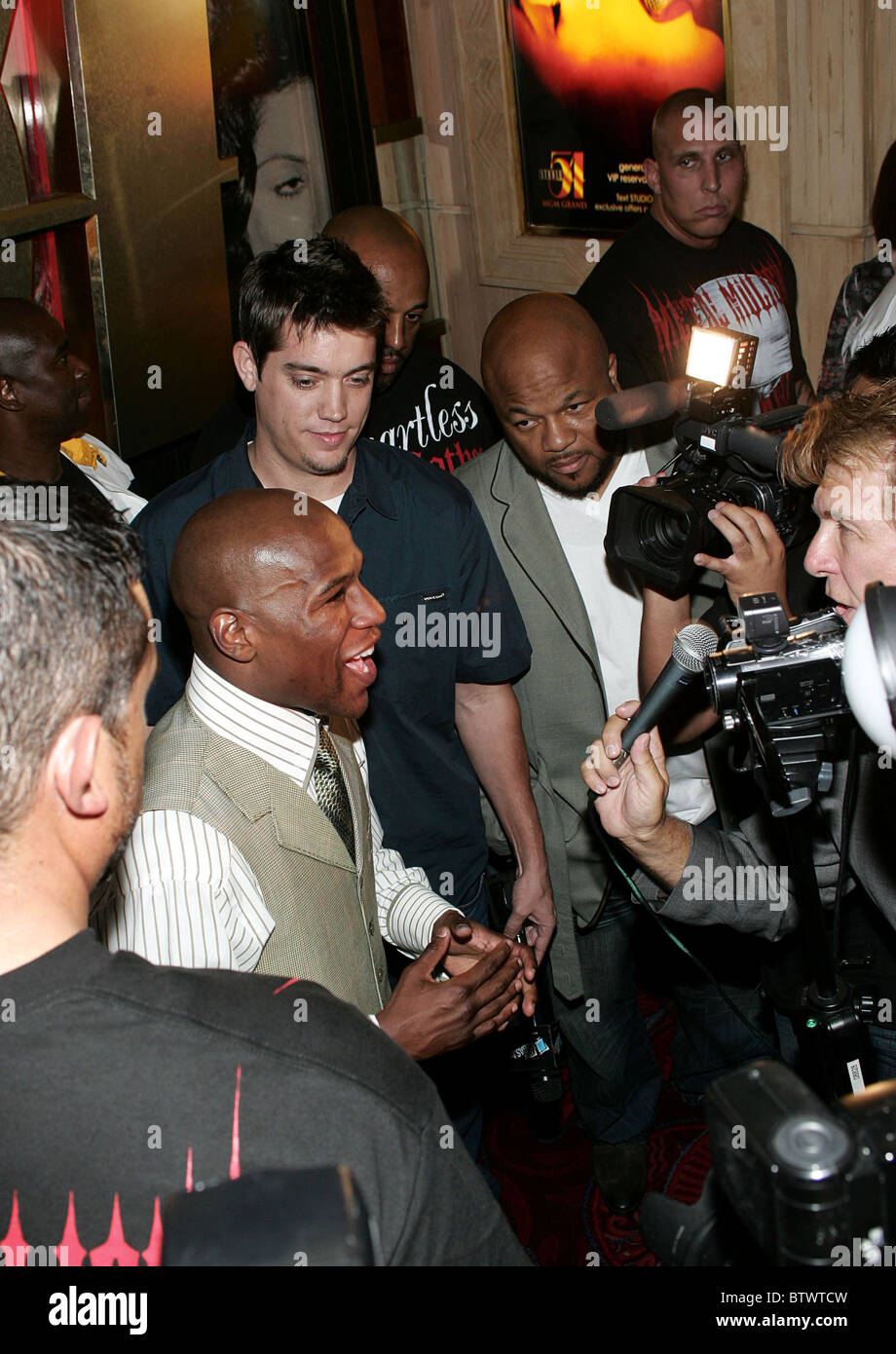 Floyd Mayweather Official After-Fight Party - Stock Image