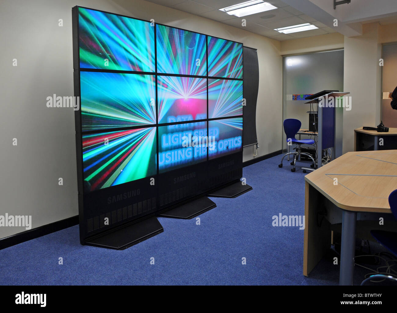 A Samsung video wall - Stock Image