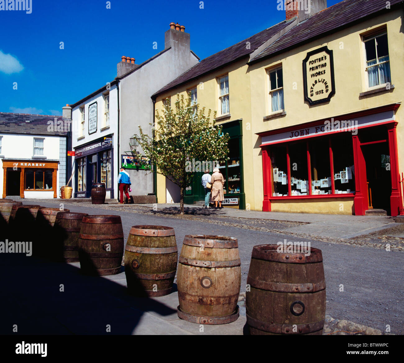 Bunratty Folk Park, Co Clare, Ireland, Shops - Stock Image