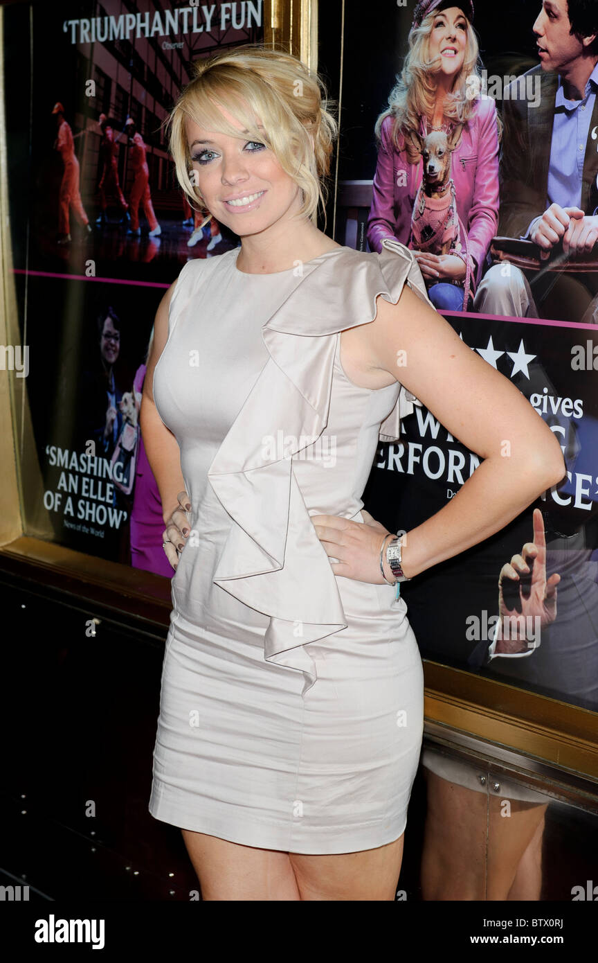 Liz McClarnon attends the Legally Blonde Musical, Savoy Theatre, London, 9th November 2010. - Stock Image