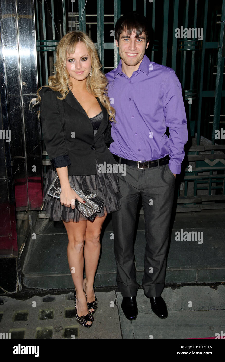 Tina O'Brien and Jared Murillo attends the Legally Blonde Musical, Savoy Theatre, London, 9th November 2010. - Stock Image