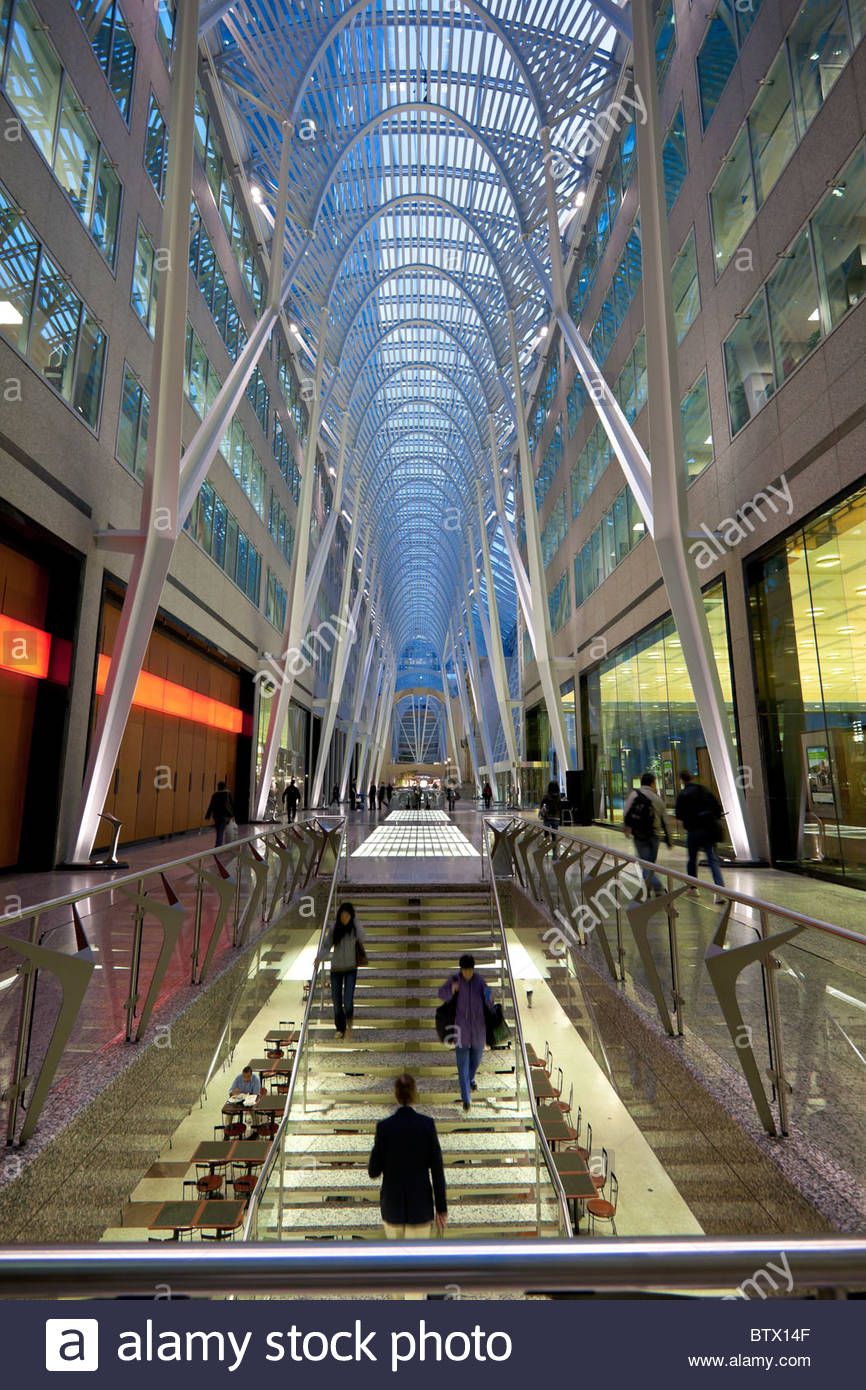 Allen Lambert Galleria in Brookfield Place in the heart of the Financial District in Toronto Ontario Canada - Stock Image