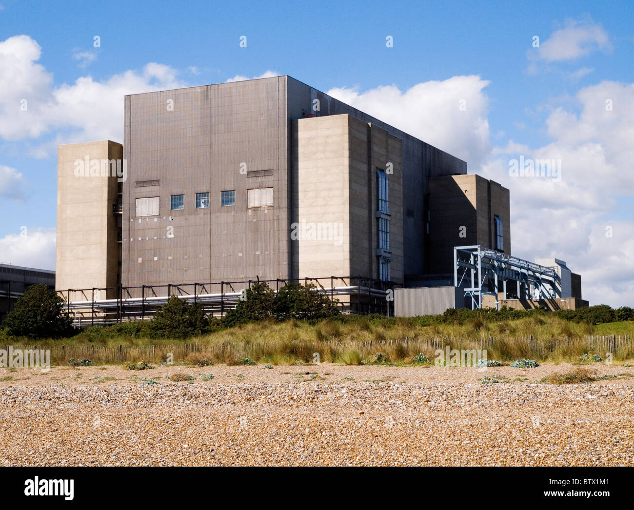 Sizewell A nuclear power station. Construction started April 1961, it was opened April 1967 and shutdown December - Stock Image