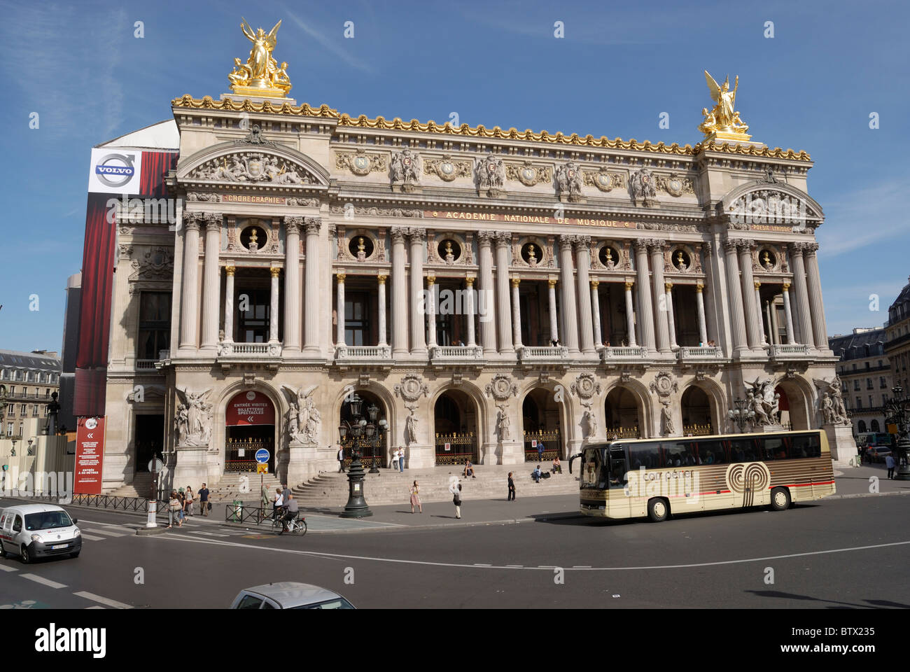 Place De L'Opera, Palais Garnier located on Avenue D'Opera in Paris, is located in a square known as the - Stock Image
