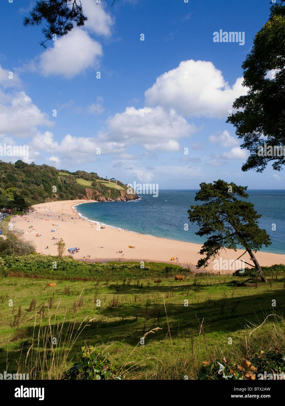 Blackpool Sands - South Devon - Stock Image