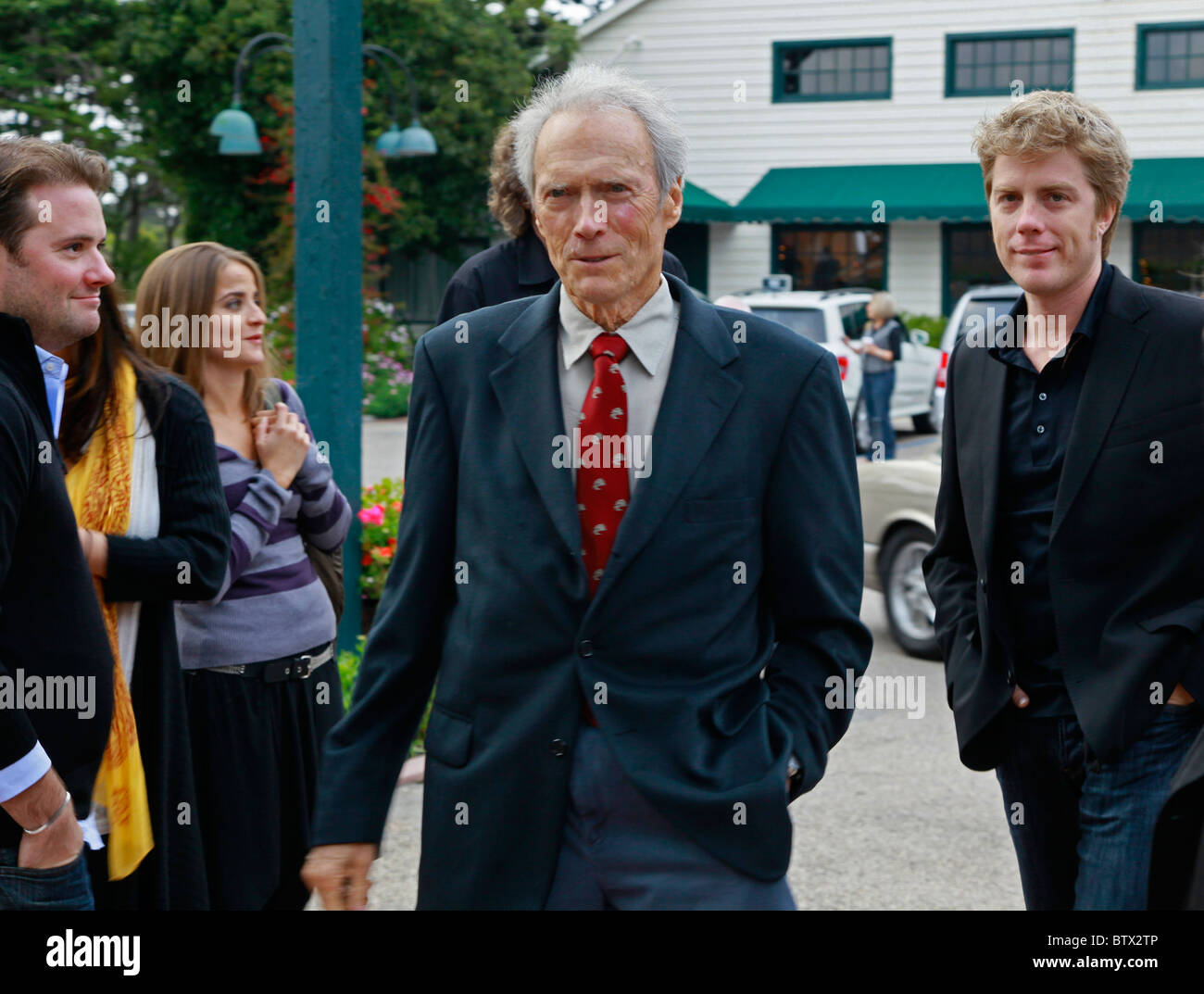 CLINT EASTWOOD attends a Monterey Jazz Festival reception at his Mission Ranch - CARMEL, CALIFORNIA - Stock Image