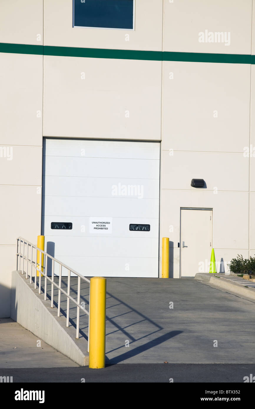 Warehouse - Ramp for semi trucks - Stock Image