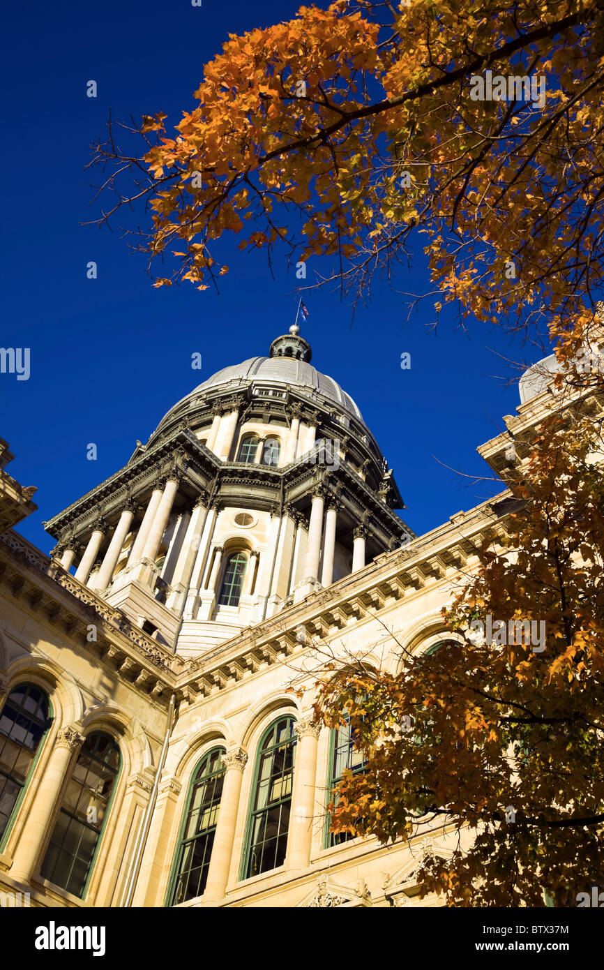 Springfield, Illinois - fall by State Capitol - Stock Image