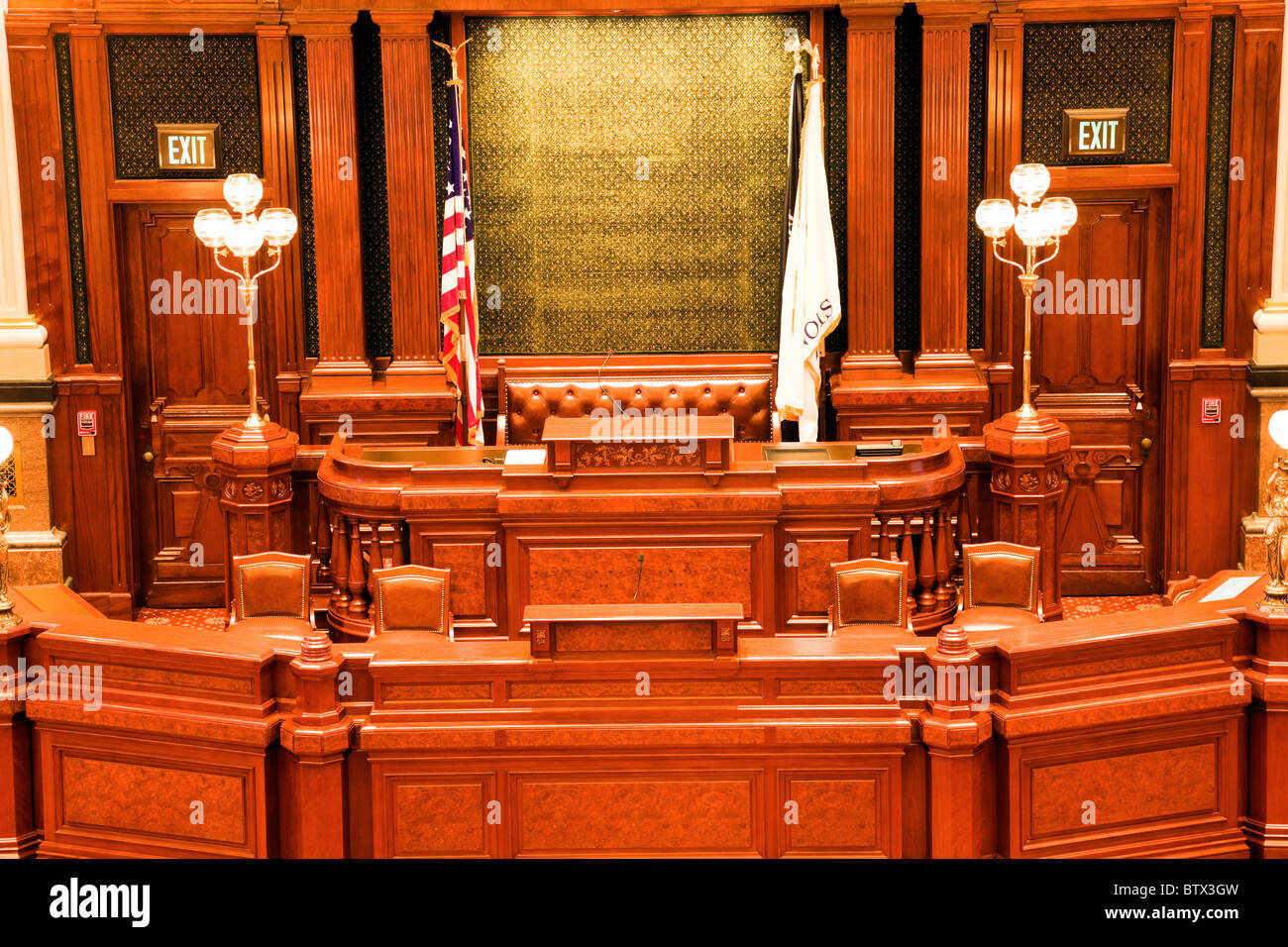 Springfield, Illinois - inside State Capitol Building - Stock Image