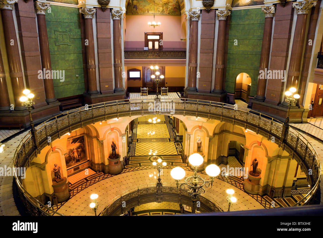 Springfield, Illinois - inside State Capitol - Stock Image