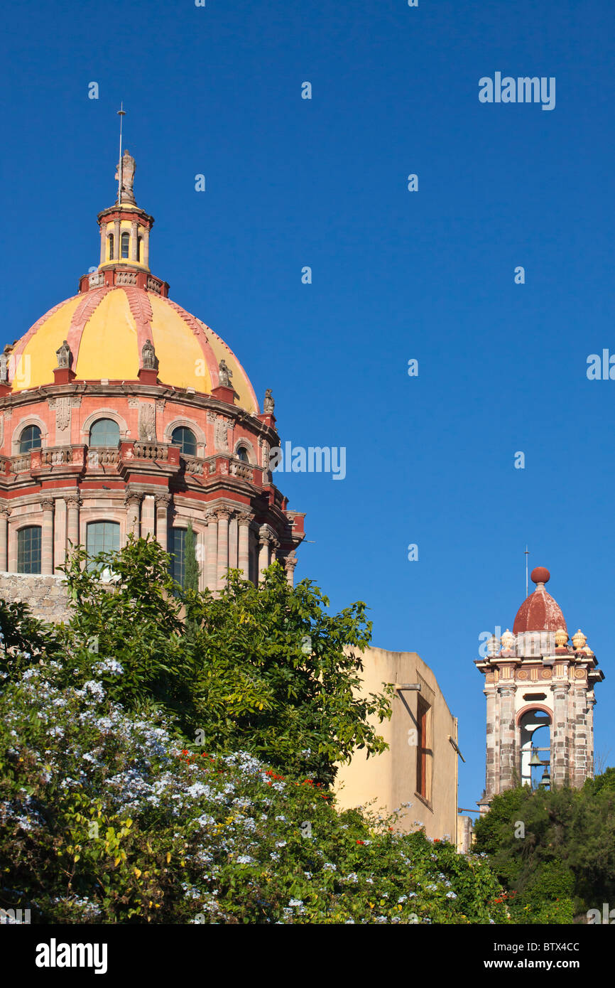 A done of the Catholic CHURCH OF THE NUNS - SAN MIGUEL DE ALLENDE, MEXICO - Stock Image