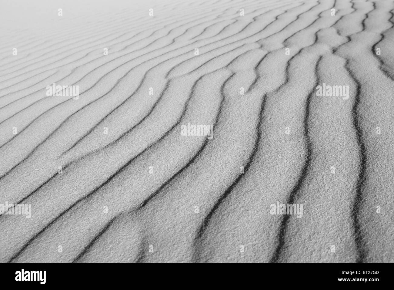 Sand Waves Desert Abstract Black and White background texture - Stock Image