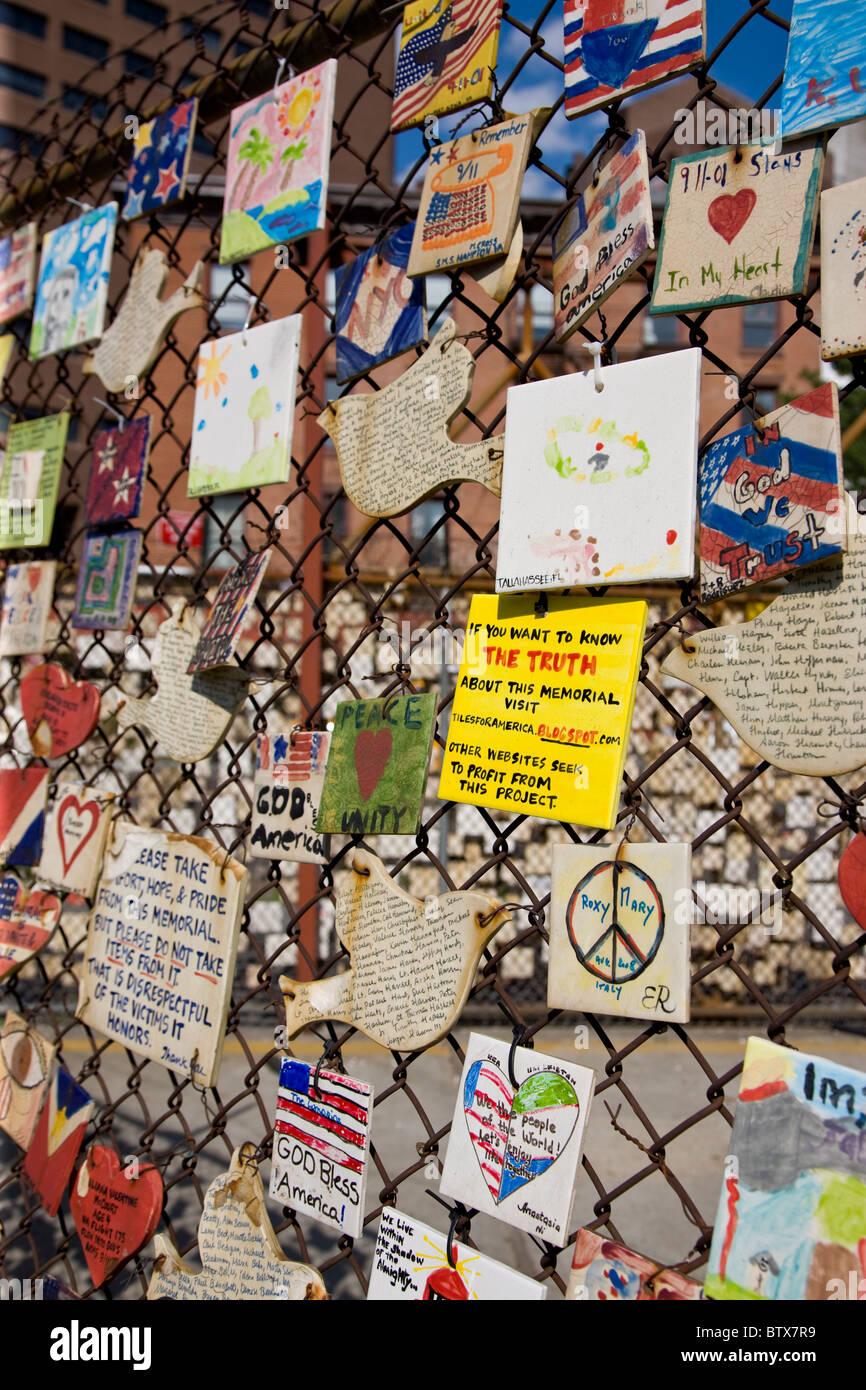 911 Memorial in Greenwich village - Stock Image