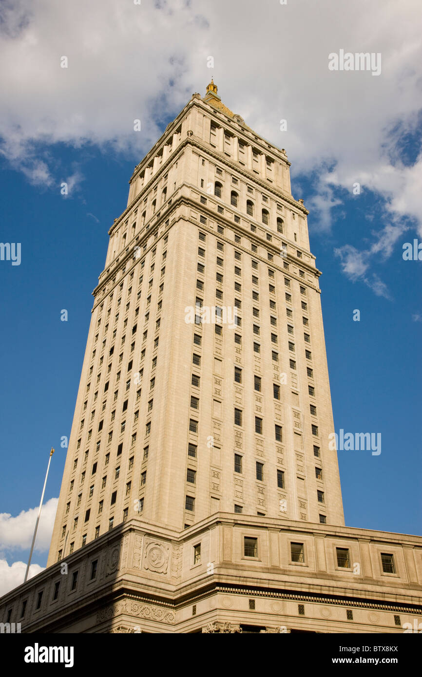 Thurgood Marshall US Courthouse from Foley Square - Stock Image