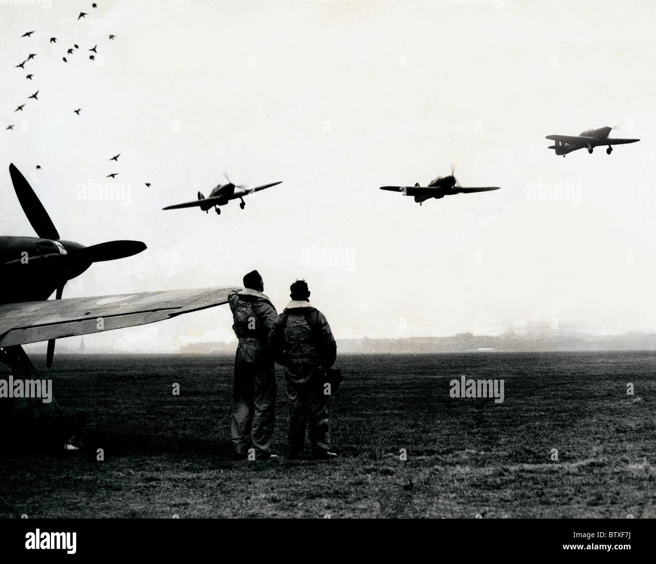 Hurricanes of the Czech Air Squadron WW2 - Stock Image