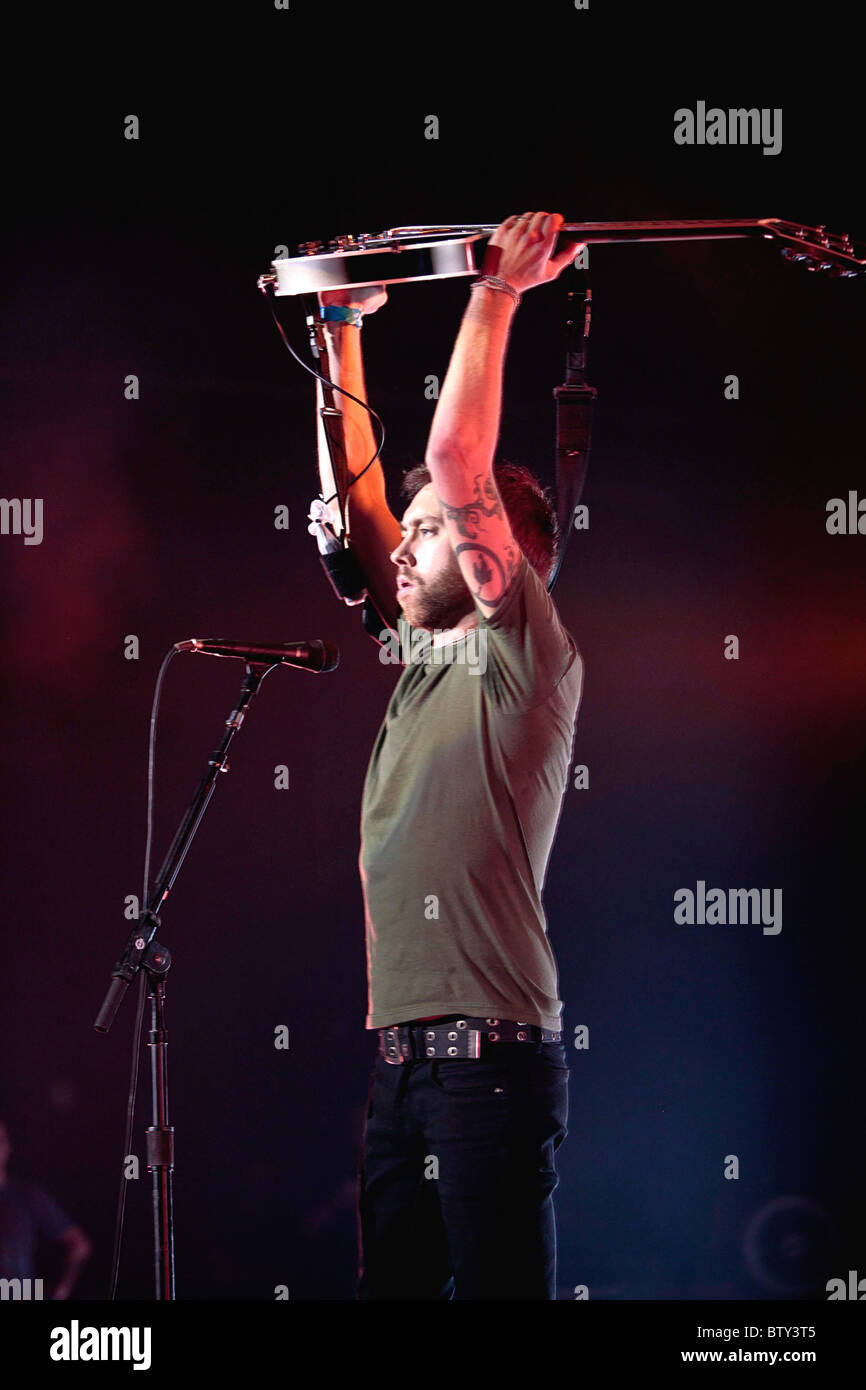 Rise Against in Concert at The Joint - Stock Image