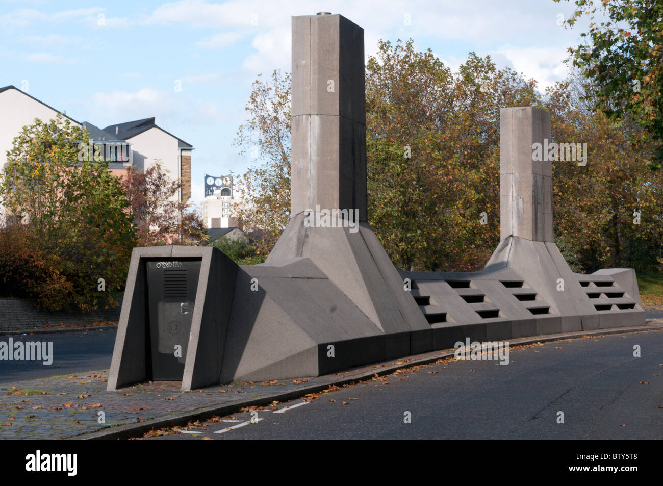 Ventilation shafts in Akerman Road, London, SW9 - Stock Image