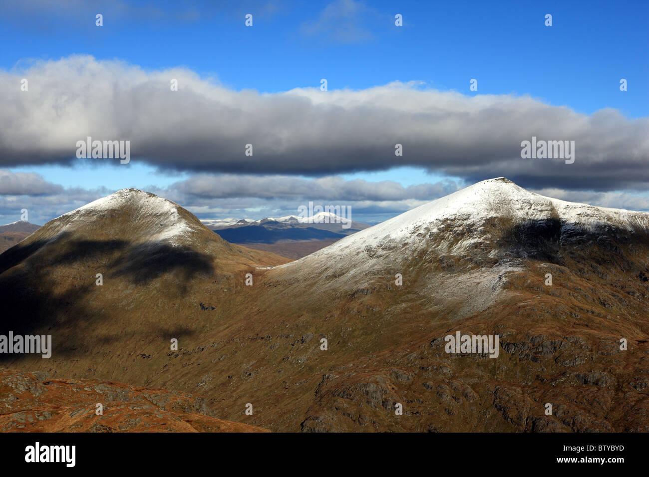 Ben More (left) and Stob Binnein (right) mountains near Crianlarich, Scotland - Stock Image