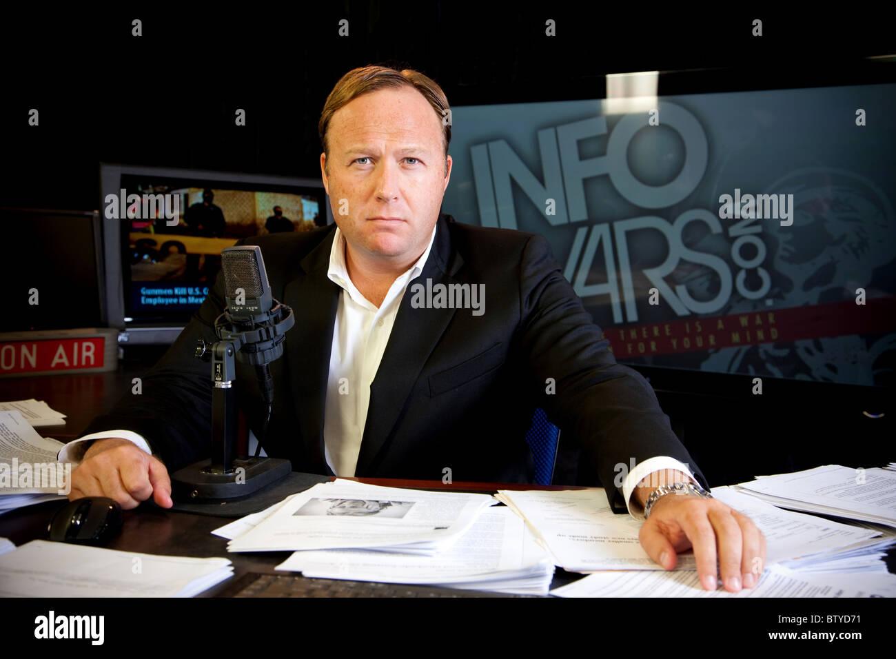 Alex Jones, Texan Talk show and host of Infowars. - Stock Image