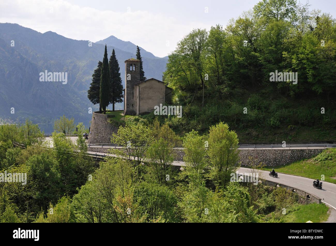 Ponte Caffaro near Lago d Idro, Brescia, Italy - Stock Image